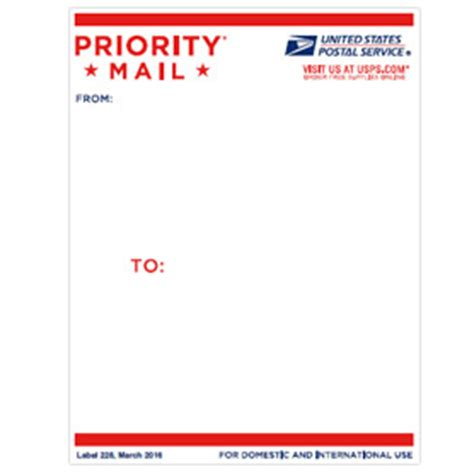 Post Office Box Address Lookup Priority Mail Address Label