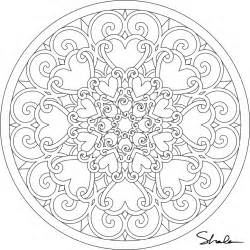 printable mandala coloring pages free printable hearts mandala coloring page coloring home