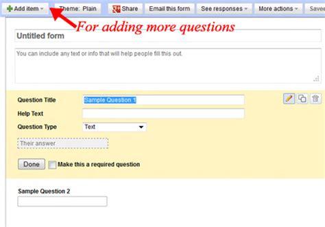 design form google docs create survey poll forms using google docs