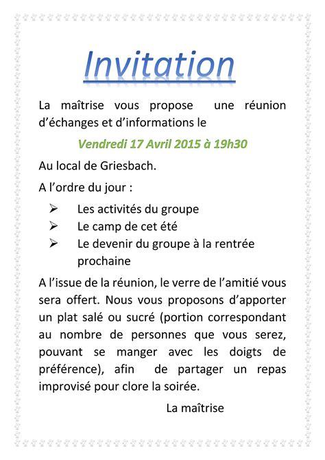 Groupe 1ère Vosges Du Nord » Réunion Maîtrise ? Parents