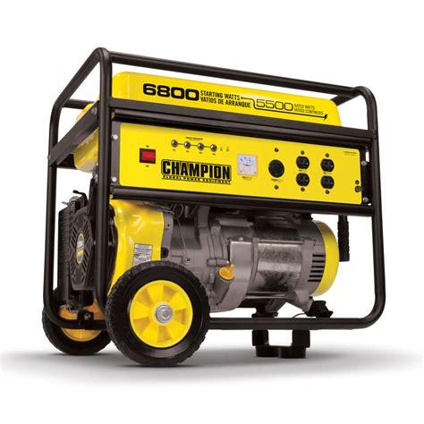 shop chion power equipment 5 500 running watts portable