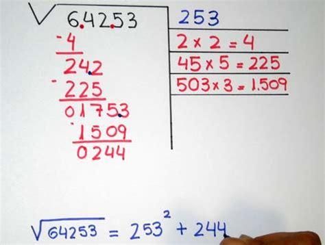 ejercicio de la raiz cuadrada c 243 mo hacer una ra 237 z cuadrada educaci 243 n primaria y