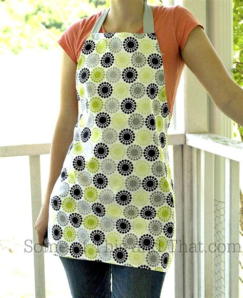 Apron Pattern Simple | easy reversible apron diy and make bake create link party