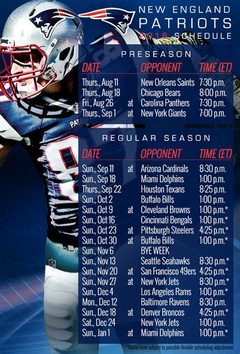 patriots schedule 2016 power ranking the patriots 2016 opponents new england
