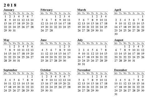 Calendar Template 2018 Printable Printable Calendar 2018 Printable Calendar Templates