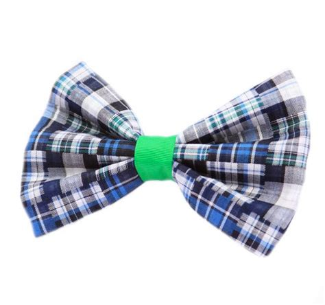 Patchwork Bow Tie - patchwork plaid bow tie for collar