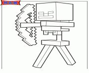 minecraft coloring pages bow and arrow minecraft coloring pages color online free printable