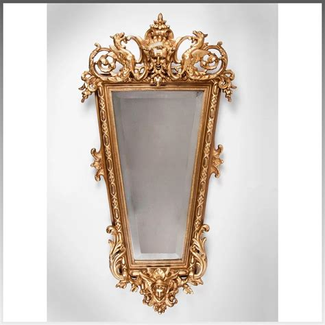 Mercury Baroque Made In Italy by Mid 19th C Italian Baroque Giltwood Carved Mirror Pia S