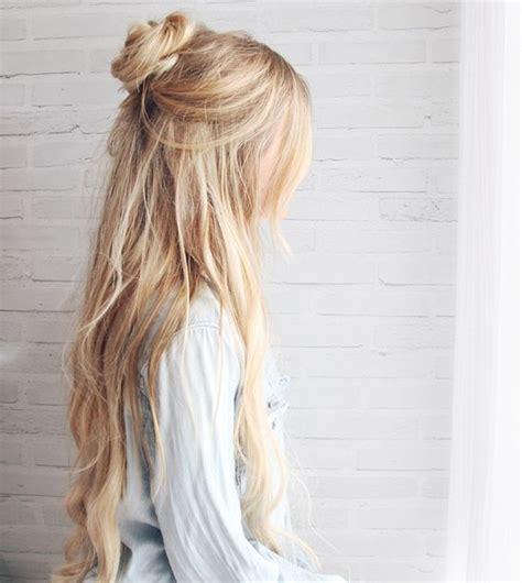 half bun top 25 best ideas about half up bun on pinterest hair hair