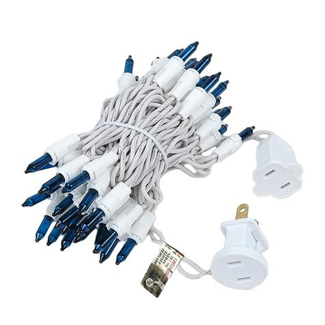 teal christmas lights white wire teal christmas mini light set 50 light white wire 11 feet