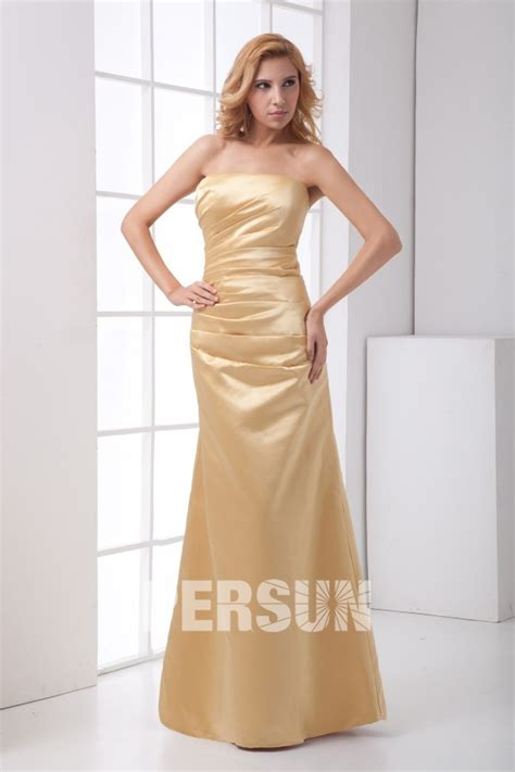 plain strapless ruched mermaid bridesmaid dress