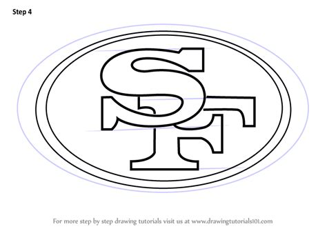 49ers Sketches by Learn How To Draw San Francisco 49ers Logo Nfl Step By