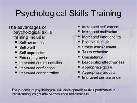 psychological skills program template hm sports psychology