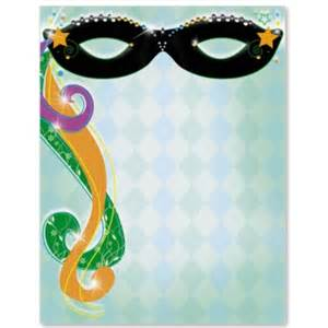 masquerade party border papers paperdirect
