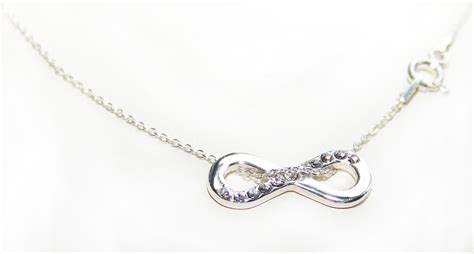 sterling silver infinity pendant necklace sterling silver infinity pendant necklace with genuine
