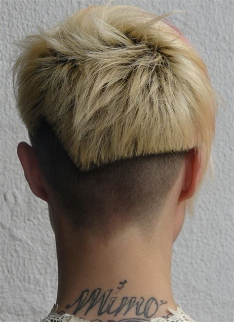 back view of womens short hairstyles with clippered back short hairstyles back view