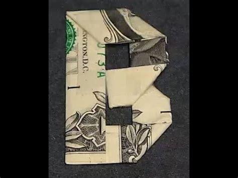 Dollar Bill Origami Letters - fold origami dollar bill alphabet letter b