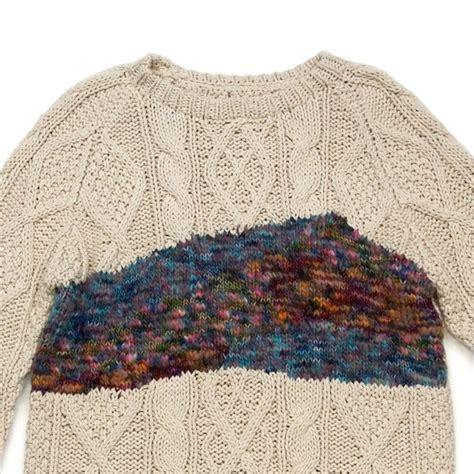 pattern for thin yarn design inspiration texture clash aran stitch pattern