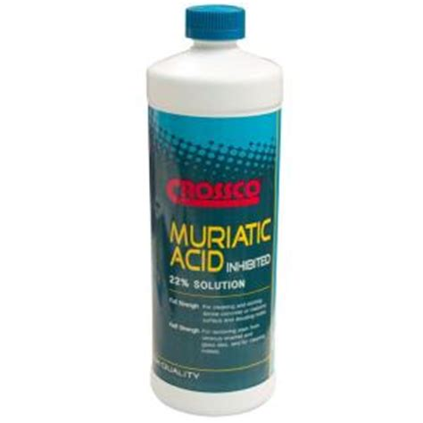 crossco 32 oz 22 muriatic acid 12 pack am030 5 the