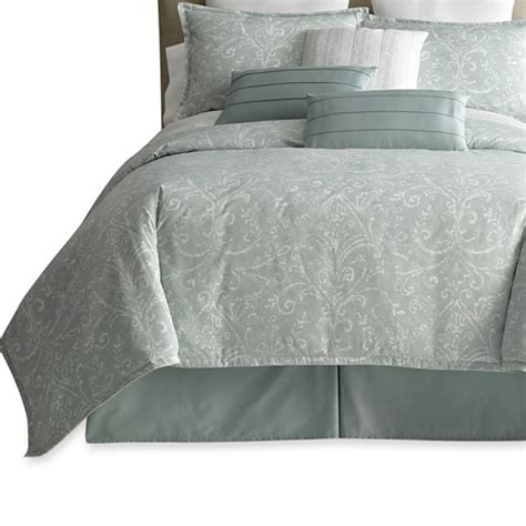 royal velvet comforter set royal velvet 174 beacon mint 7 pc comforter set