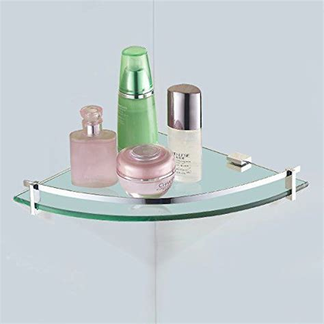 Updated vdomus tempered glass bath corner shelf bathroom shower organizer storage brackets wall
