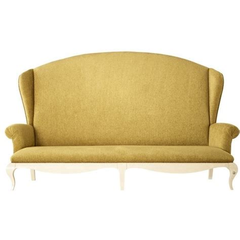 high backed sofas fabric french glossy white and gold fabric high back sofa
