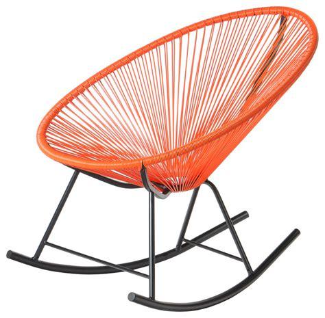 Orange Rocking Chair by Polivaz Mayan Hammock Acapulco Rocking Chair Orange