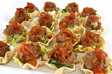 skinny mini mexican meatball tostada appetizers  weight watchers points skinny kitchen