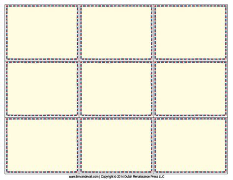printable card templates flash card template free laptuoso