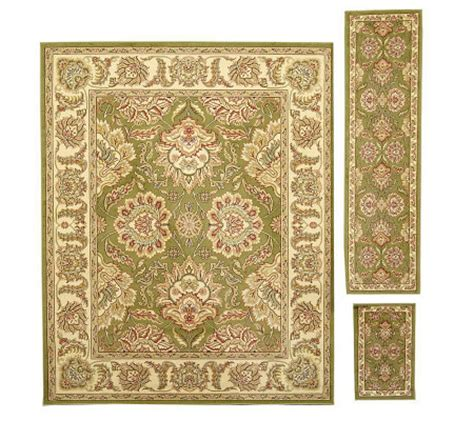 area rug and runner sets style set of 3 rugs with accent runner and area rug qvc