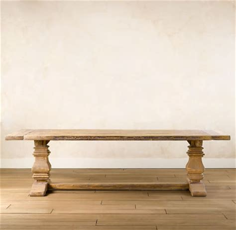 restoration hardware trestle table restoration hardware salvaged trestle dining table