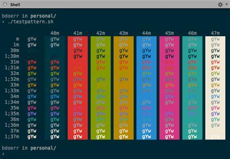 bash color scheme smpte color bars exle