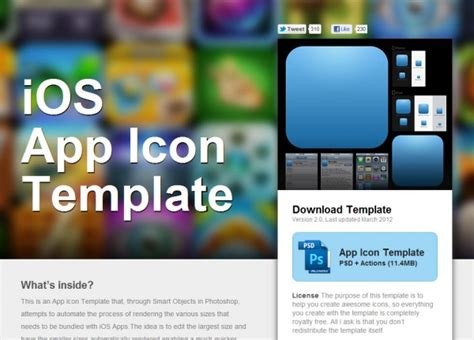 ios app template ios app icon template tech