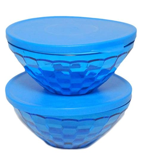 Teaz Me Glass 2 Tupperware tupperware glass blue prism bowl 500 ml pack of 2 buy at best price in india snapdeal