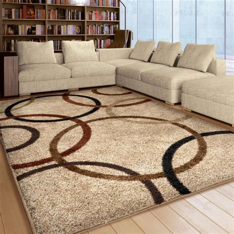 on rug beige 9 215 12 area rug with brown rounds all about rugs