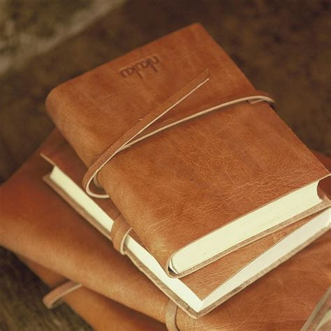 How To Make A Handmade Leather Journal - nkuku rustic leather journal shop nectar high falls ny