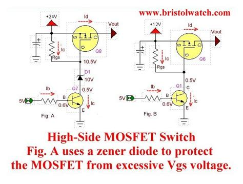 what is pch diode p channel power mosfet switch tutorial