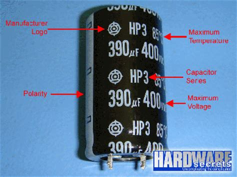 capacitor markings electrolytic capacitor polarity marking
