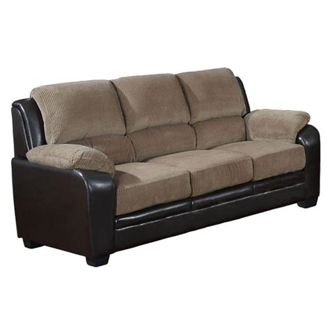Corduroy Sofa And Loveseat Venetian Worldwide Barton Saddle Brown Corduroy Sofa S5006