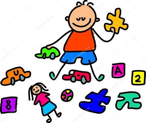dibujos niños jugando con juguetes ni 241 o jugando con juguetes vector de stock 64287243