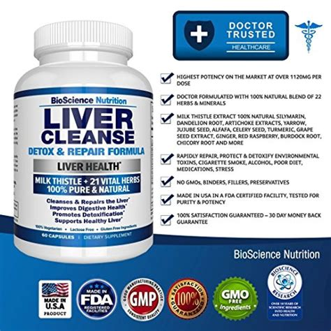 Vitamins For Liver Detox by Buy Liver Cleanse Support Detox Supplement 22 Herbs