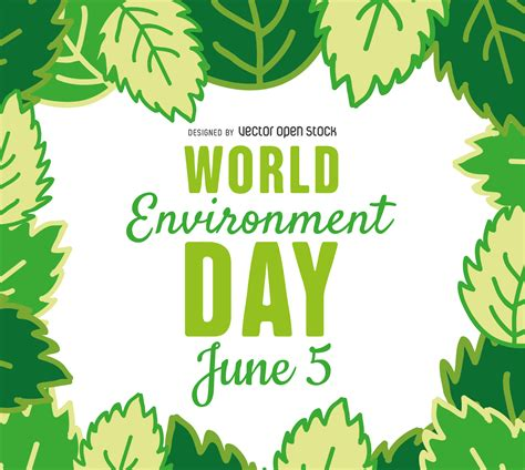 environment day world environment day leaves frame vector