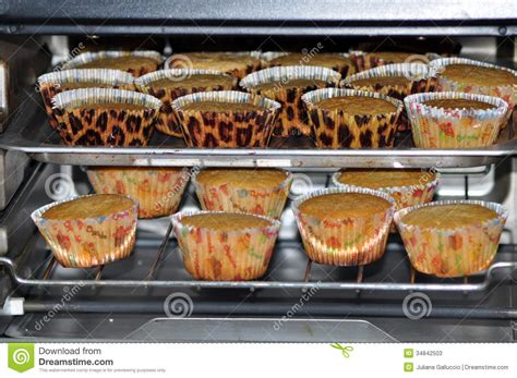 How To Cook A Small Rack Of by Cupcakes Baking In Oven Stock Photos Image 34842503