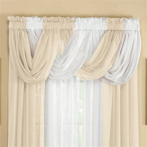 Sheer Valance Curtains Sheer Scoop Valance Curtains 2 Pc By Collections Etc