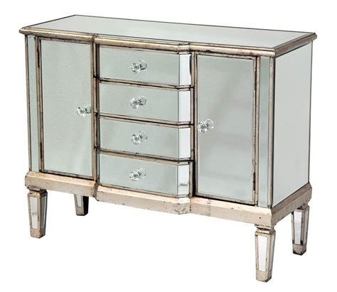 shabby french vintage style mirrored glass sideboard