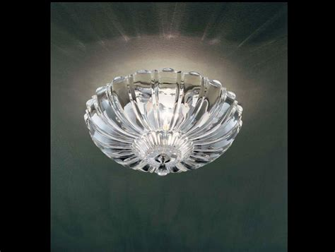 Italian Ceiling Lights Nella Vetrina Pascale Leucos Modern Italian Designer Ceiling Light In Clear Glass