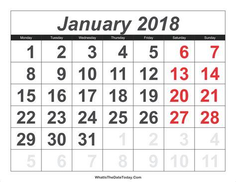 cute printable calendars 2018 monthly free january 2018 calendar