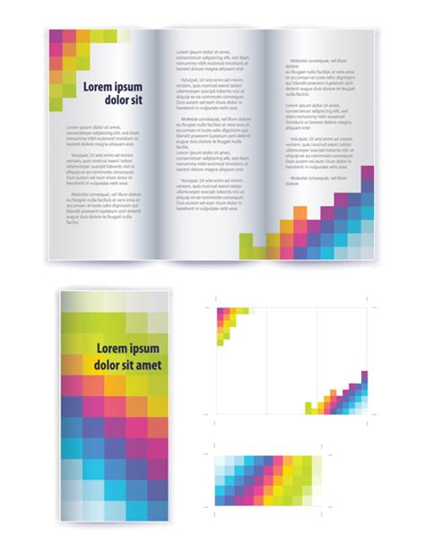 commonly business brochure cover design vector 01 free business brochure cover vector set 01 free download