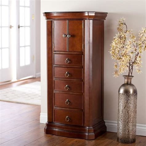 jewelry armoire for sale luxe 2 door jewelry armoire mahogany finish jewelry