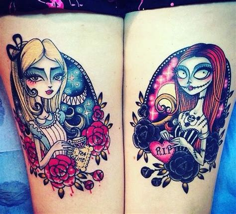 tattoo nightmares back in the saddle alice in wonderland sally from nightmare before